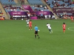 Fewer attendees second match