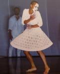 white-faced Petrushka dancer