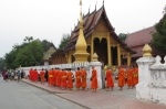 Monks at Wat Xieng Mouan