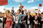 George Mackay leading the protest