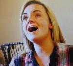 Charlotte Wakefield in rehearsal