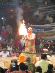 Aarti with fire