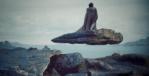 Luke Skywalker meditating