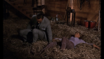 Connery and Blackman in the hay
