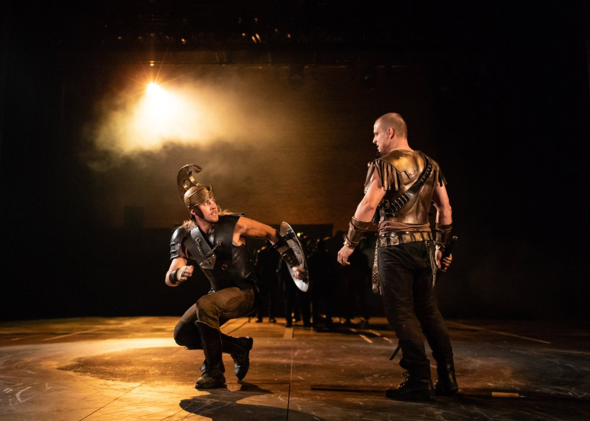 Andy Apollo as Achilles and Daniel Hawksford as Hector